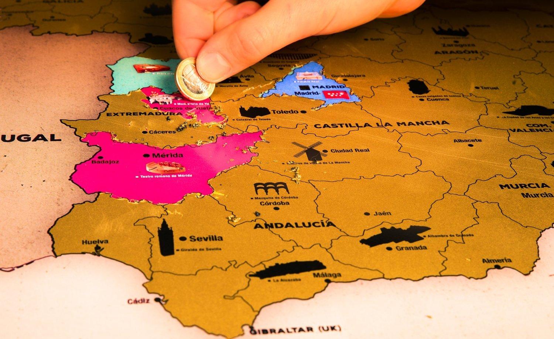Imagen de un mapa de España