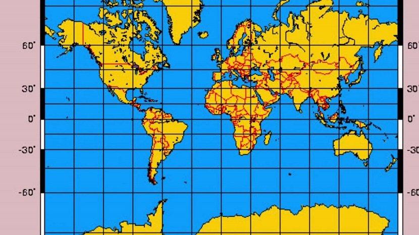 Imagen de la Proyección Mercator