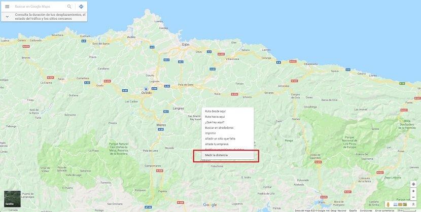 Medir distancias Google Maps