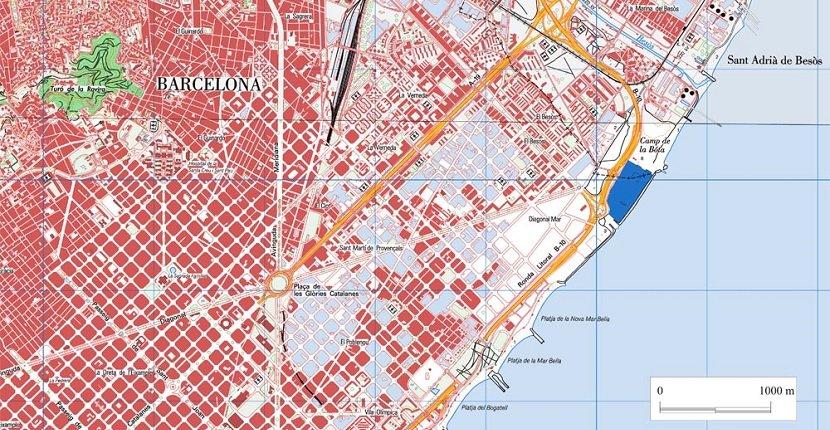 Escala mapa topográfico