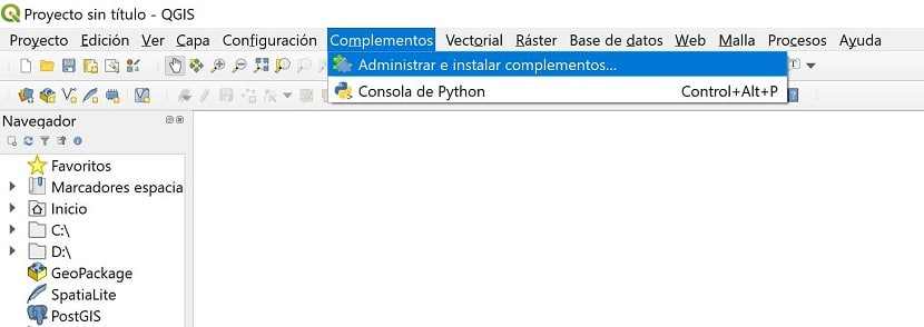 Administrar e instalar complementos QGIS